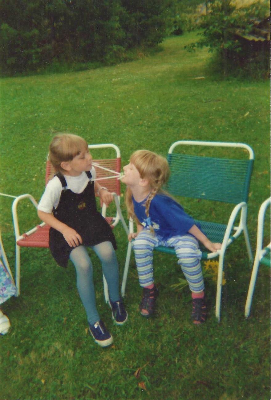 Damals bei meinem Kindergeburtstag im Garten